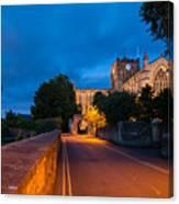 Hexham Abbey At Night Canvas Print