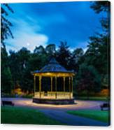 Hexham Bandstand At Night Canvas Print
