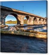 Hexham Bridge And Fish Pass Canvas Print