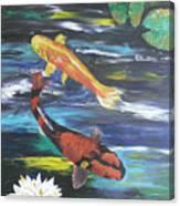 Hi Utsuri And Doitsu Koi Canvas Print