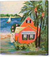 Hibiscus Beach House Canvas Print