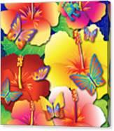 Hibiscus Feast Canvas Print