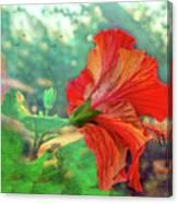 Hibiscus Flame Canvas Print