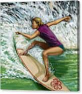 Hibiscus Girl Canvas Print