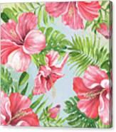 Hibiscus Paradise-jp3965 Canvas Print