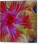 Hibiscus Stained Glass Canvas Print