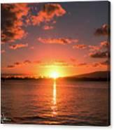 Hickam Sunset Canvas Print