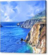 Hidden Beach At Big Sur Canvas Print