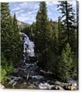 Hidden Falls - Grand Tetons Np Canvas Print