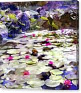 Hidden Pond Lotusland Canvas Print