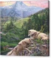 Hidden Wolves Canvas Print
