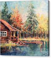 Hide Out Cabin Canvas Print