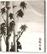 Hiding in bamboo Canvas Print