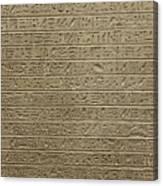 Hieroglyph Iv Canvas Print