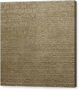 Hieroglyph V Canvas Print