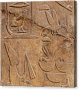 Hieroglyphs On Ancient Carving Canvas Print