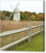 Higgins Farm Windmill Brewster Cape Cod Canvas Print