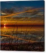 Higgins Lake The Perfect Sunset Canvas Print