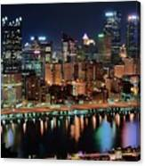 High Above Pittsburgh Canvas Print