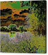 High Contrast River Sunset Canvas Print