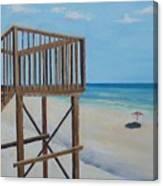 High Deck At Blue Mountain Beach Canvas Print