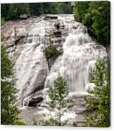High Falls At Dupont Forest Canvas Print