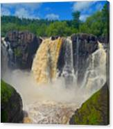 High Falls In July Canvas Print