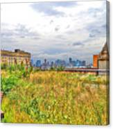 High Line On The Hudson Canvas Print