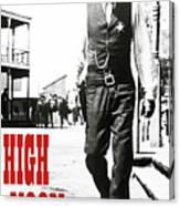 High Noon, Gary Cooper Canvas Print