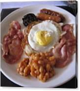 High Protein Breakfast Canvas Print