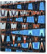 High Rise Construction Abstract # 4 Canvas Print