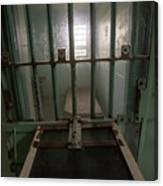 High Risk Solitary Confinement Cell In Prison Through Bars Canvas Print