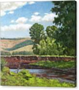High Riverside Canvas Print