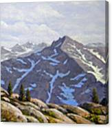 High Sierras Study Canvas Print