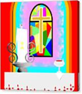 High Stained Glass Canvas Print