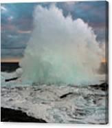 High Surf Explosion Canvas Print