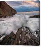 High Tide At Bald Head Cliff Canvas Print