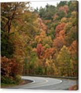 High Walls Of Fall Colors Canvas Print
