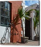 High Wheel Bicycle In Bermuda Canvas Print