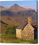 Highland Cottage At Elphin Canvas Print