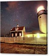 Highland Light Truro Massachusetts Cape Cod Starry Sky Shadow Canvas Print