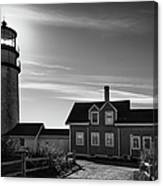 Highland Lighthouse Bw Canvas Print