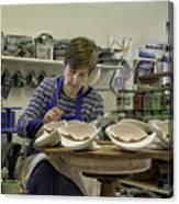 Highland Stoneware Artist At Work Canvas Print