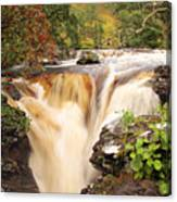 Highland Waterfall Dundonnell River Canvas Print