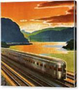 Highlands Of Hudson, Railway, Train Canvas Print