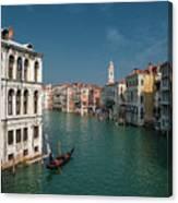 Hight Tide In Venice Canvas Print