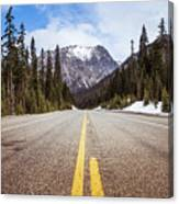Highway 20 On Rainy Pass In North Cascades National Park Canvas Print