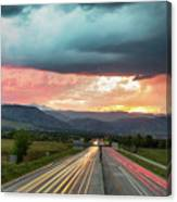 Highway 36 To Beautiful Boulder Colorado Canvas Print