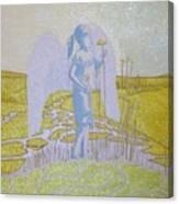 Highway Angel Landscape Bright Canvas Print
