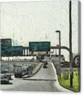 Highway In Dubai Canvas Print